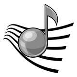 Musical note symbol. Icon isolated on white background Stock Photo