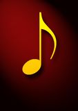 Musical note symbol Royalty Free Stock Image