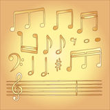 Musical note vector in children style Royalty Free Stock Photography