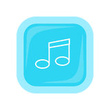 Musical Note Vector Icon In Flat Style Design Royalty Free Stock Photos