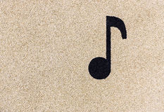 Musical note on playground stock photos
