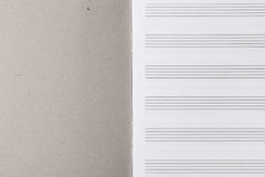 Musical Notebook with Staves Stock Photos