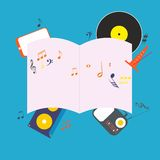 Musical notepad Royalty Free Stock Images