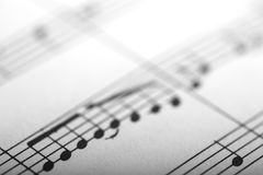 Musical notes. Close up of musical notes Royalty Free Stock Images