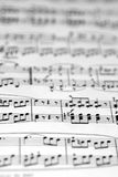 Musical notes. With shallow DOF stock image