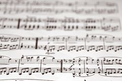 Musical notes. With shallow DOF stock photography