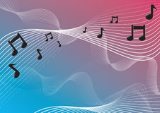 Musical notes. On a color background Royalty Free Stock Images