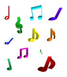 Musical notes 3D Royalty Free Stock Photo