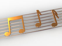 Musical notes. Royalty Free Stock Photography