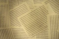 Musical notes. On old paper royalty free stock photography