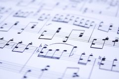 Musical notes Royalty Free Stock Photo