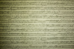 Musical notes. And writing words, nice background stock photography