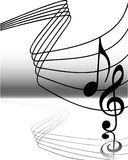 Musical notes 5. Vector illustration of abstract musical notes Stock Photos