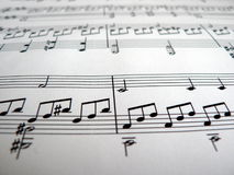 Musical notes. Detail - part of the Moonlight sonata Stock Photo