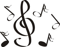 Free Musical Notes A Treble Stock Photos - 1447843
