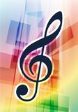 Musical Notes on Abstract Background Royalty Free Stock Image