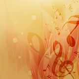 Musical notes with abstract background. Stock Photography
