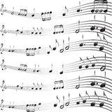 Musical notes background Stock Photo