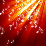Musical notes on background Stock Image