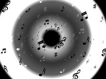 Musical Notes Background Shows Abstract Art And Royalty Free Stock Photography