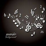 Musical notes  background Stock Photos