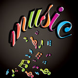 Musical notes  background Royalty Free Stock Photography