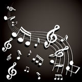 Musical notes  background Royalty Free Stock Images
