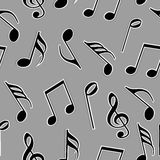 Musical notes in black and white color. Royalty Free Stock Photography