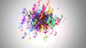The musical notes with depth of field Stock Photography