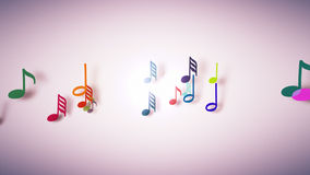 The musical notes with depth of field Royalty Free Stock Images