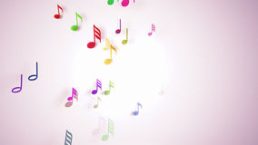 The musical notes with depth of field Stock Photos