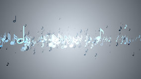 The musical notes with depth of field Royalty Free Stock Image