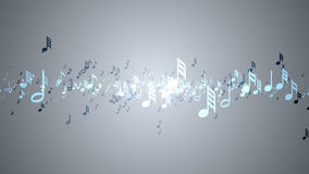 The musical notes with depth of field Royalty Free Stock Photography