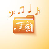 Musical notes  folder Stock Images