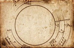 Musical notes frame Royalty Free Stock Images