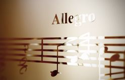 Musical notes on frosted glass, art background Stock Photo