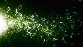 Musical Notes Green Drifting stock video