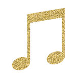 Musical notes icon with glitter effect, isolated on white background. Outline icon of notes, musical symbols, vector Royalty Free Stock Photo