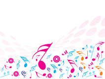 Musical Notes. ideal for ba. Vector illustration of Musical Notes. ideal for background Royalty Free Stock Photo