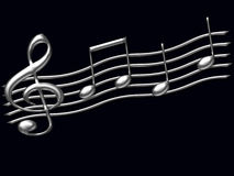 Musical  notes illustration Royalty Free Stock Photography