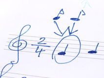Musical notes Stock Photos