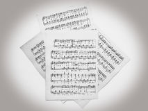 Musical notes for music Stock Photography