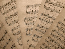 Musical notes for music Royalty Free Stock Photography