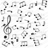 Musical notes. Stock Images