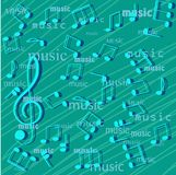 Musical notes. Royalty Free Stock Photos