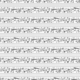 Musical notes pattern Royalty Free Stock Images