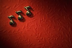 Musical Notes On The Red Background Royalty Free Stock Photo