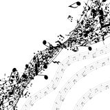 Musical notes in a row Royalty Free Stock Image