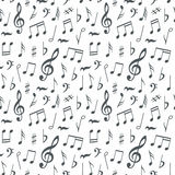 Musical notes seamless pattern background Stock Photography