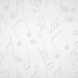Musical notes with seamless pattern. Royalty Free Stock Photography